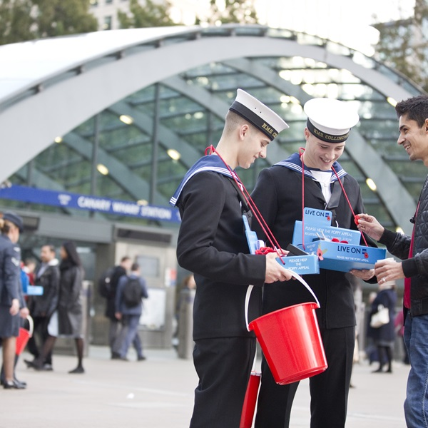 Volunteers and supporters at London Poppy Day