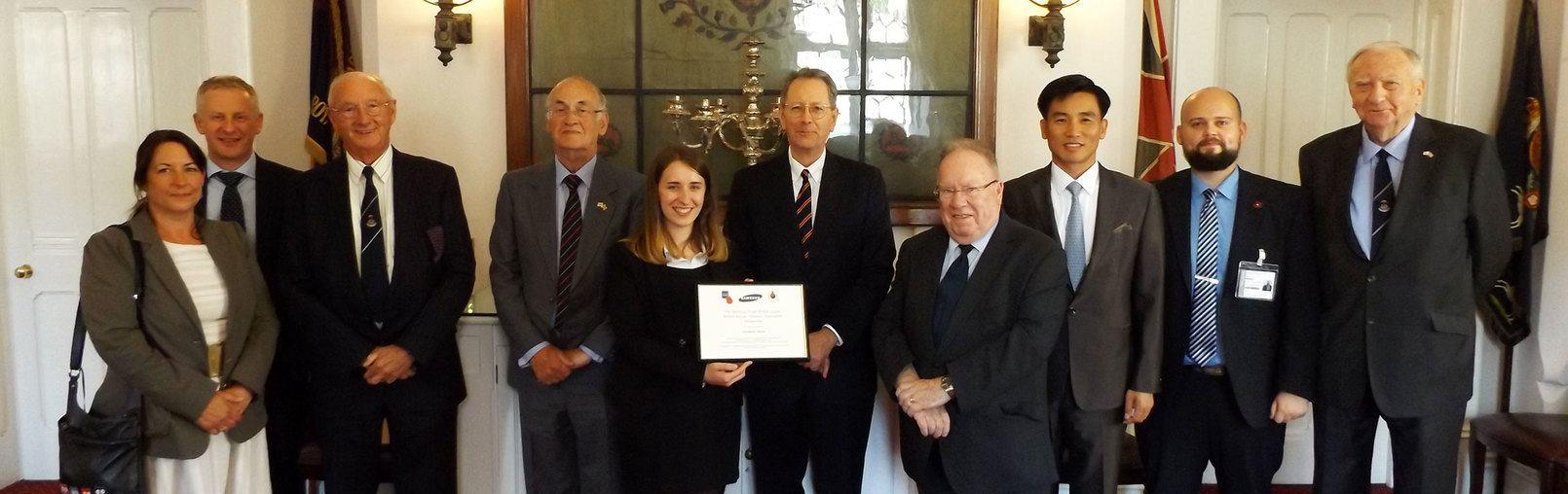 A woman receiving funding from the Royal British Legion to study abroad
