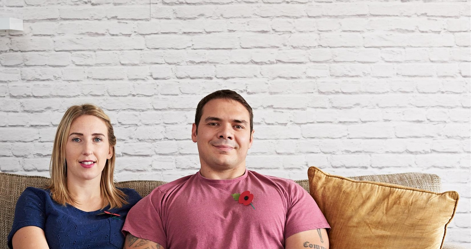 Royal Navy and Army veterans Donna and Mark Stonelake in their home