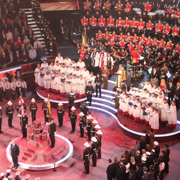 Close-up of ceremony at Festival of Remembrance