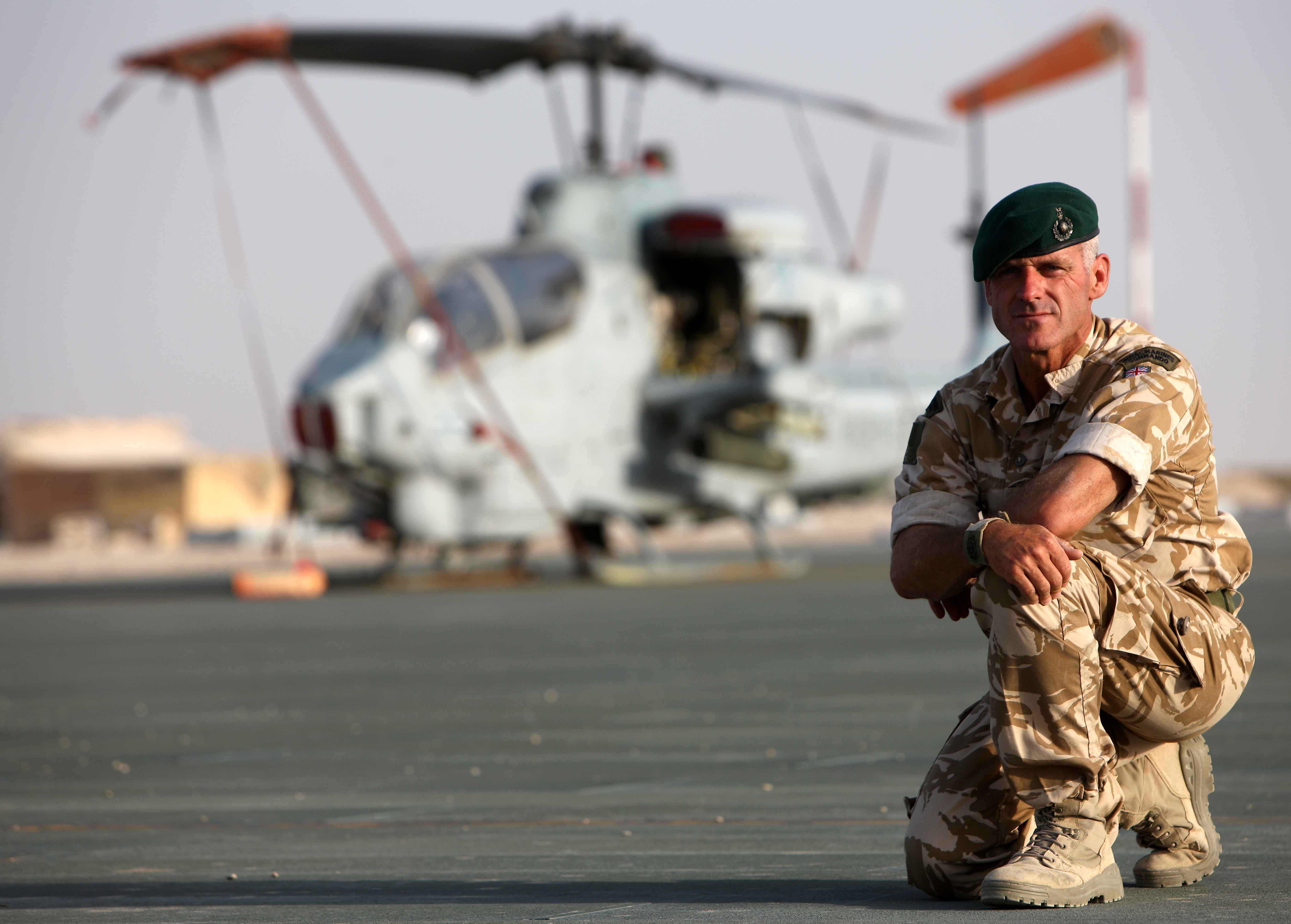 Matt in Afghanistan with helicopter