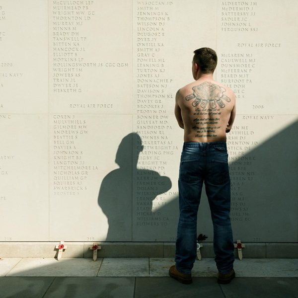 Paul Glazebrook at Armed Forces Memorial