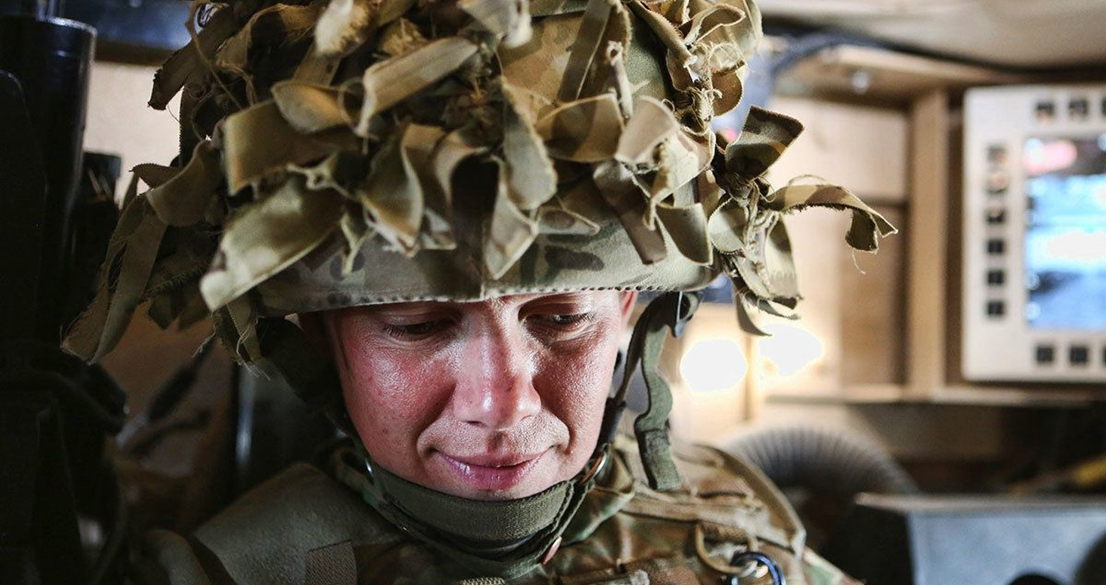 Anna Crossley on patrol in Afghanistan