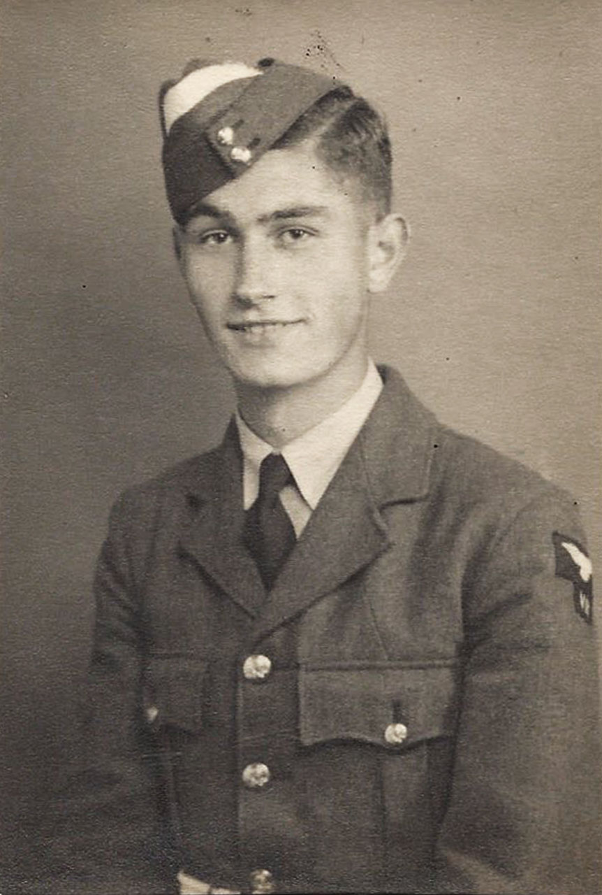 Portrait of the younger Desmond Lush in uniform.