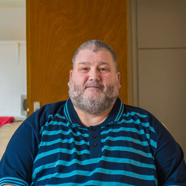 Veteran goes from being at risk of homelessness to having his own flat