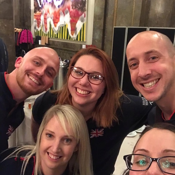 Joe and Megan with friends at the Invictus Games