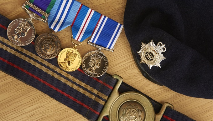 David's time in service saw him awarded a number of medals, including a David's General Service Northern Ireland medal