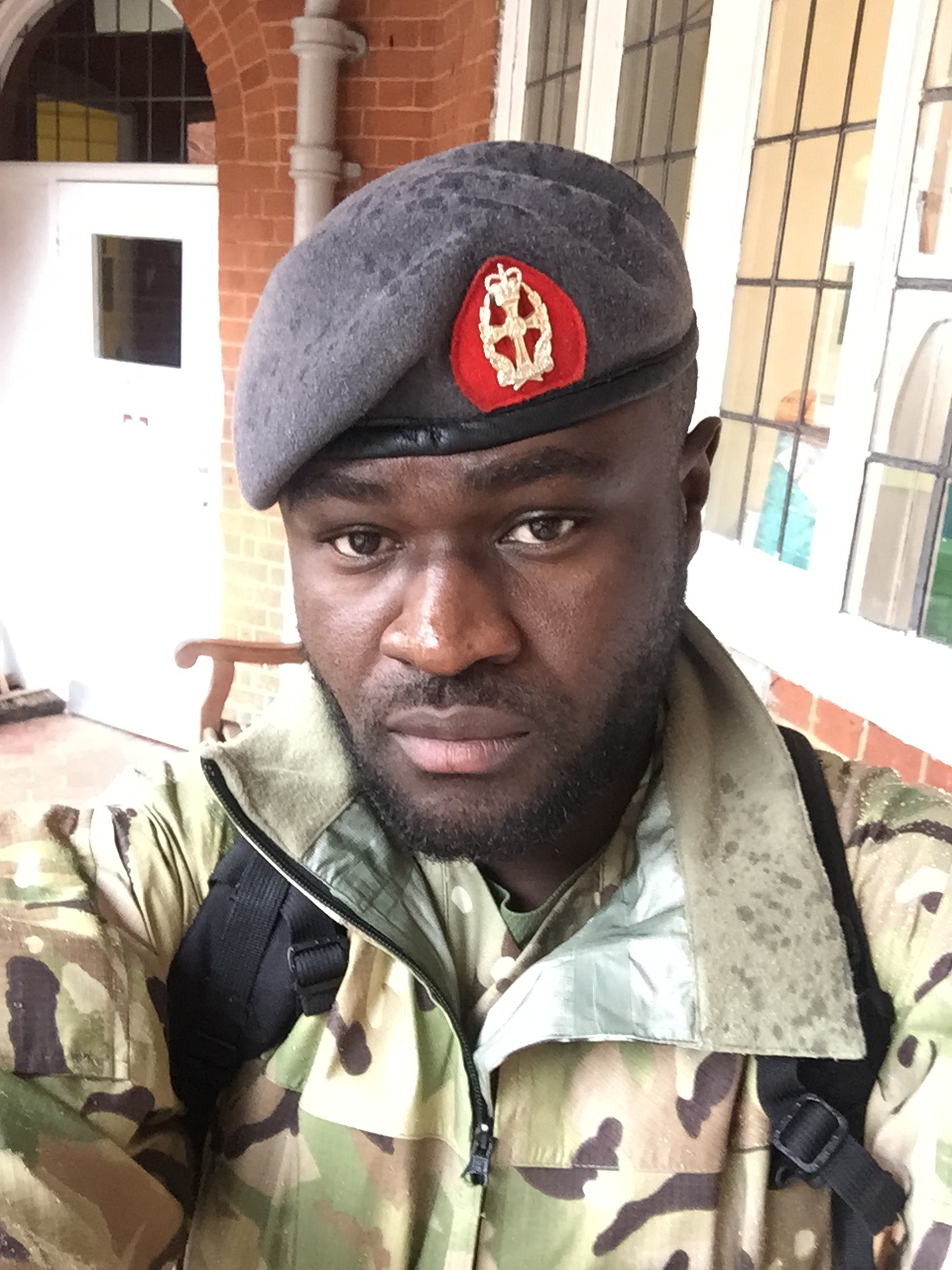 Ben Poku in uniform
