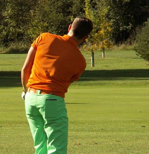 Golfer taking part in Poppy Golf