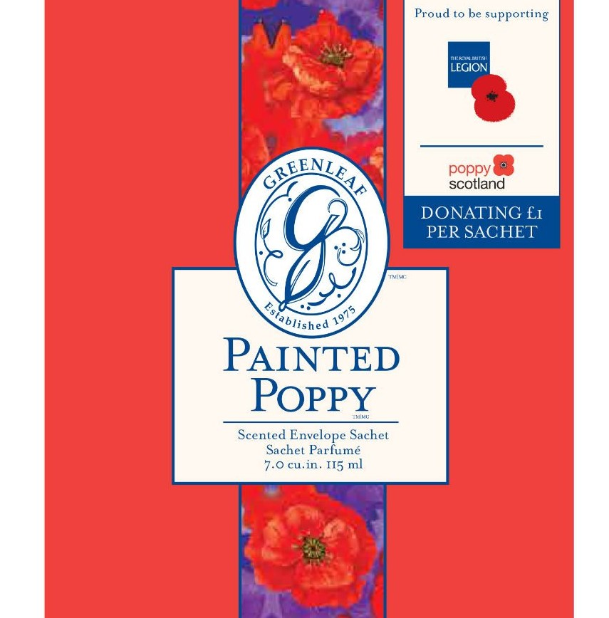 The Painted Poppy Sachet from Heart of the Country